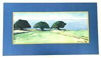 """""""Three Trees-Pauka Ranch""""  '81 Signed Artist...Morgan Large Watercolor Painting"""