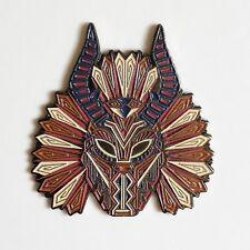 KILLMONGER Mask Pin   black panther avengers wakanda forever t'challa enamel