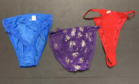 Vandale Intimates Bikini Panties Lot Of 3 Panties Nylon Polyester Cotton SZ 7-8