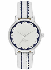 NEW Kate Spade New York KSW1004 Metro White Leather Strap Women's Watch