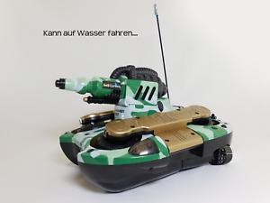 Revell 2-1 RC Hybrid Auto Car Tank Boat Boot mit Wasser Schussfunktion 27MHz