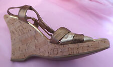 Faith UK6 EU39 US8 metallic high wedge sandals - very little wear
