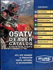 2005 POLARIS ATV, ATP, RANGER PARTS, APPAREL & ACCESSORIES SALES CATALOG (802)