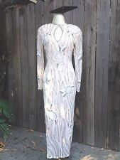 REDUCED Vintage Couture Nude/Peach Silk Chiffon Beaded Gown Attributed to MACKIE