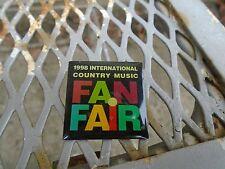 Vintage 1998 International Fan Fair Country Music Lapel hat pin Nashville Tenn