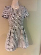 blaque label Black And White Knit Dress Size Medium