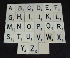 Vintage/retro replacement Scrabble tiles letters A-Z available (flat-back)