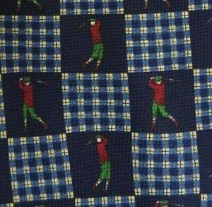 Blue Check Golf Silk HILFIGER Tie