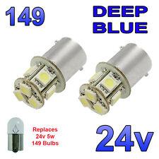 2 X BLU 24V LED BA15S 149 R5W 8 SMD TARGA INTERNI LAMPADINE Mezzi Pesanti Camion