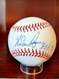 Nolan Ryan HOF 99 Signed Autographed Major League Baseball MLB Authentic Astros