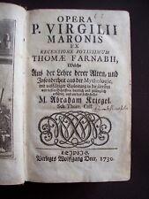 Opera P. Virgilii maronis ex recensione potissimum Thomae Farnabii