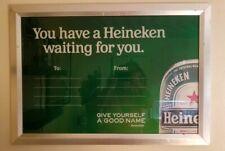 Vintage Heineken Beer Framed Bar Picture - Rare