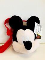 Disney Mickey Mouse Bag Girls Purse Plush Head New Birthday Gift Authentic