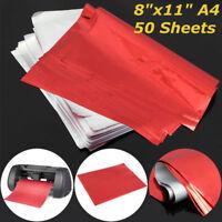 "50 Sheets A4  Red Transfer Heat Foil Paper For Laser Printer Hot Laminator 8x11"""