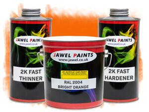 2k Acrylic Car Paint RAL 2004 Bright Orange Gloss 4 Litre Kit Direct High Gloss