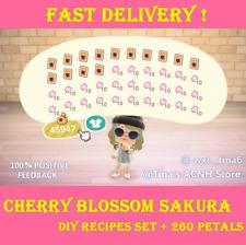 Cherry Blossom Sakura DIY Recipe Set + 260 Petals 🌸 ANIMAL:CROSSING NEW HORIZON
