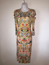 38 Italy/US 0  ) ALEXANDER McQUEEN Soft Knit Cut Out Sleeves Dress