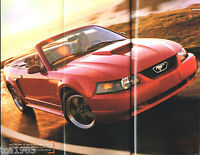 2001 Ford MUSTANG / FOCUS / ZX2 Sales Brochure / Catalog w/ Color Chart: GT,NOS!