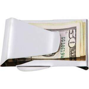 Embassy™ Dual-Sided Metal Money Clip *Stainless Steel Double Side Slot*