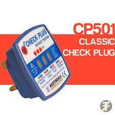 Martindale cp501 clásico a cuadros enchufe 240v Socket Tester