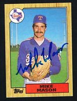 Mike Mason #646 signed autograph auto 1987 Topps Baseball Trading Card