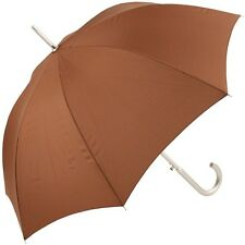 Colours - Plain Coloured Umbrella - Brown