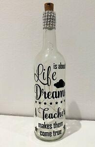 Light up quote bottle, christmas, thank you, Teacher gift
