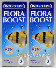 INTERPET FLORA BOOST x2 PACK PLANT GROWTH WATER TREATMENT AQUARIUM FISH TANK