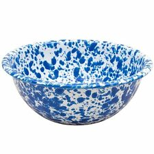 Crow Canyon Enamelware Cereal Bowl 15cm in Blue Marble Enamel D17DBM