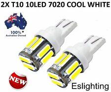 2X COOL WHITE T10 12V W5W WEDGE 7020 LED CAR UTE SIDE LIGHTS TURN PARK BULB
