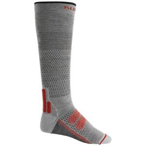 NWT Men's Burton Performance+ Ultralight Compression Socks Gray Heather Medium