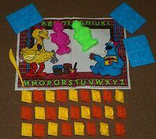 Vintage 1992 PLAYSKOOL Jim Henson SESAME STREET ABC Company PLAY DOH Molds & Mat