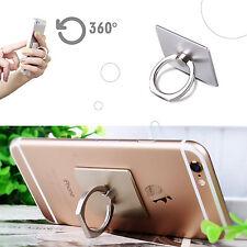 2 x Soporte de anillo Móvil Universal para Smartphone iPhone Samsung color PLATA