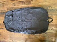 Authentic Gucci Brown Long Garment Travel Bag Front Zipper Unisex Cotton 54 X 29