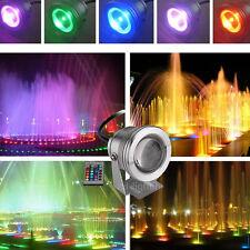 10x 10W LED Projecteur Etanche RGB IP67 DC 12V Spot Lampe Extérieur Lumière Pond