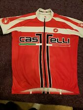 Cycling Jersey Castelli Size Mens XL Bicycle Full Zip Red