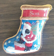 Hallmark SON - Santa Christmas Stocking -1997 Christmas Ornament