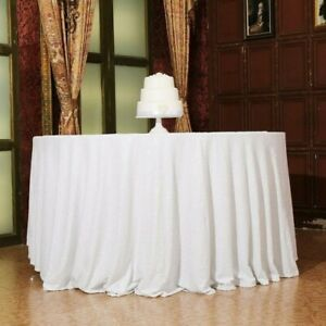 Round Sequin Tablecloths Table Cloth Cover Wedding Event Party Tableware