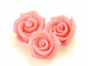4 Marzipan Rosen Aufleger Tortendeko Valentinstag Blumen Hochzeit Rosa Pink