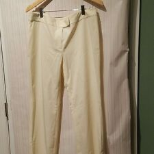 Tory Burch - Beige Cream Nylon/Spandex Stretch Dress Pants Trousers - Size 12