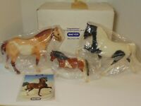 Rare 1999 BREYER Three Pintos Collector Set #711199 JC Penney Only Original Box