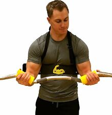 Cannon Curl (Arm Blaster) plus Fit Grips 2.0 (Thick Bar Training)