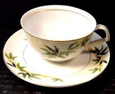 Kent China Bali Hai Bamboo Tea Cup Saucer Set EXCELLENT