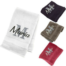 Embroidered Bath Towel Personalised Any Name Text Luxury Bathroom Spa Hand Face