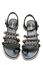 Bamboo Multi Chain Straps Sandals #Stardust-86