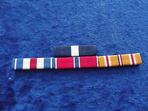 ^ Ordensspange WWII 4 Ribbons: Navy Cross, Silver Star, Bronze Star, Pacific
