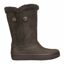 New Womens Crocs Modessa Boots Shoes 5 6 7 8 9 10 Black Brown Beige