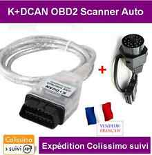 INTERFACE K+DCAN K-CAN OBD2 BMW & MINI SCANNER INPA DIAGNOSTIQUE + ADAPTATEUR