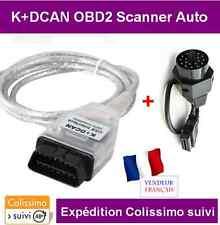 INTERFACE K+DCAN K-CAN OBD2 BMW & MINI SCANNER INPA DIAGNOSTIQUE + ADAPTATEUR