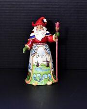 Jim Shore Enesco Around The World Santa With Tulip Staff #4034367